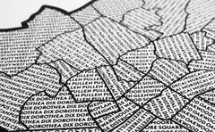 'Neighborhoods of Raleigh (Inside the Beltline)' Patchwork Map