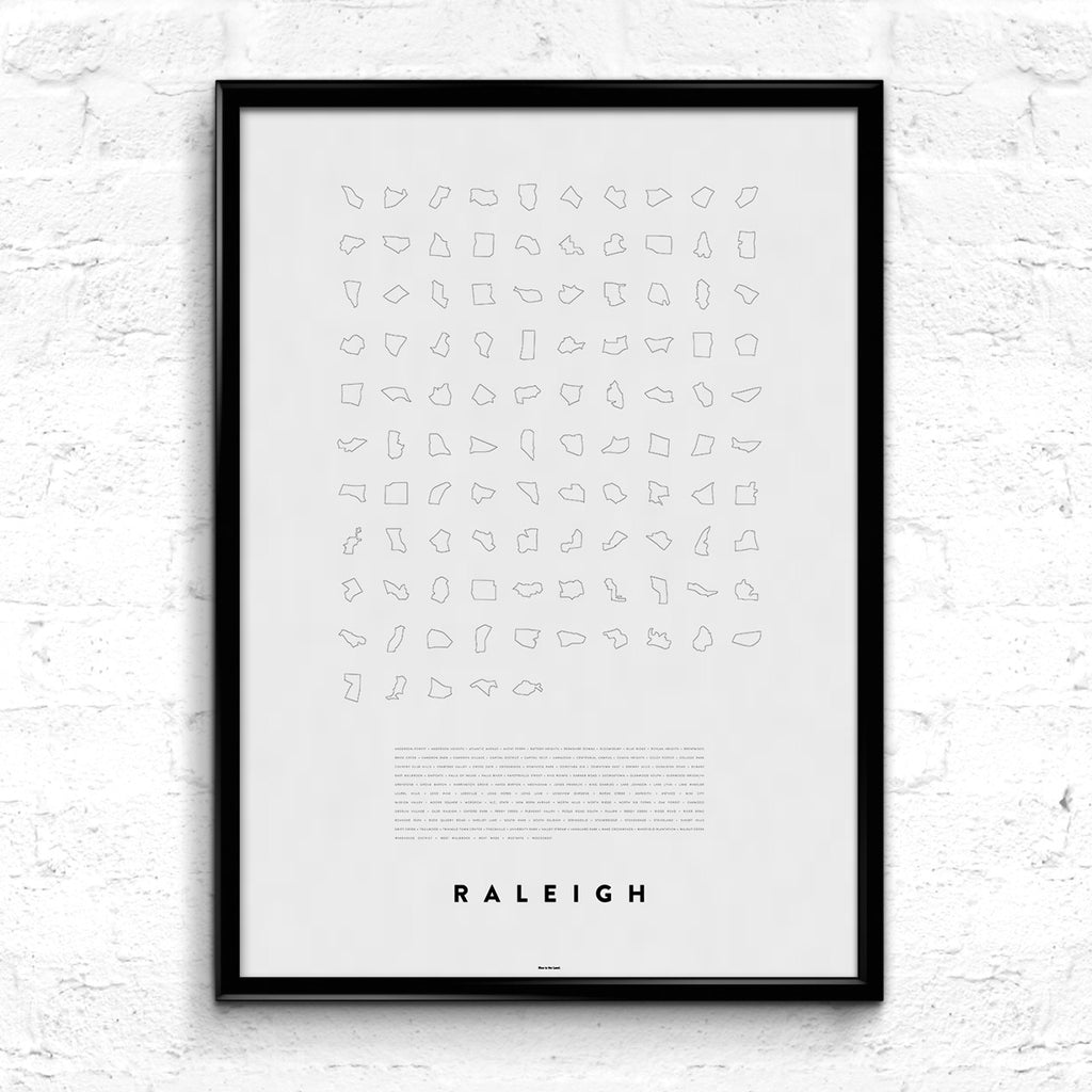 'Raleigh Line Up' Print