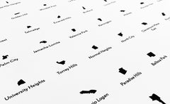'Neighborhoods of San Diego' Eye Chart Print
