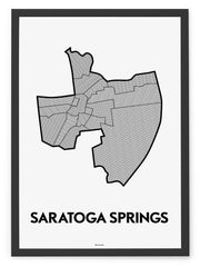 'Neighborhoods of Saratoga Springs' Patchwork Map