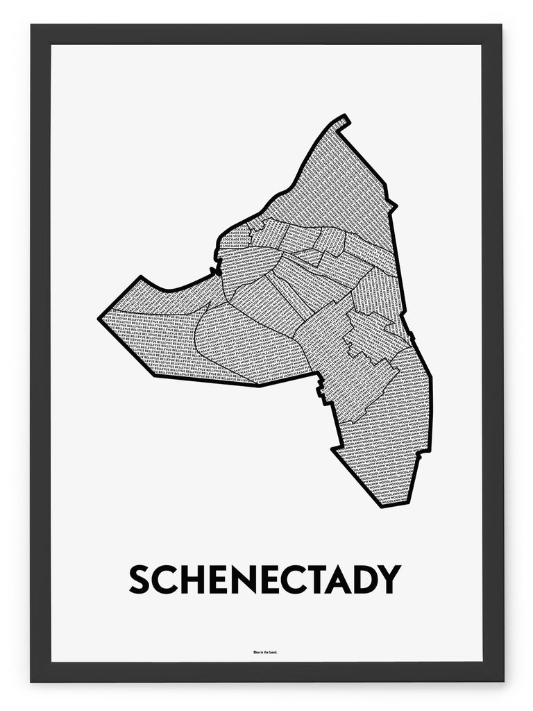 'Neighborhoods of Schenectady' Patchwork Map