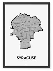 'Neighborhoods of Syracuse' Patchwork Map