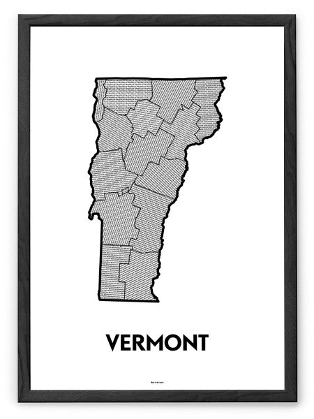 'Counties of Vermont' Patchwork Map