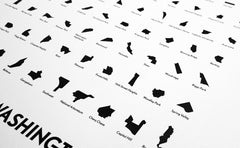 'Neighborhoods of Washington, D.C.' Eye Chart Print