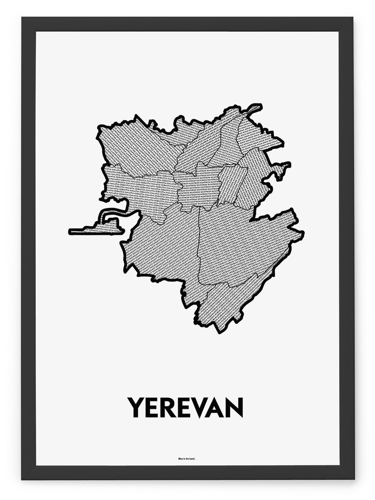 'Districts of Yerevan' Patchwork Map