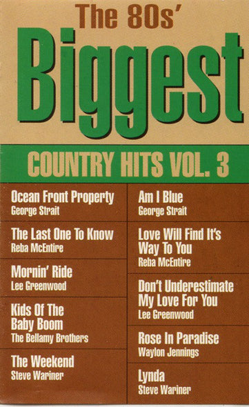 Various : The 80's Biggest Country Hits Vol. 3 (Cass, Comp)