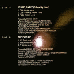 "Hubert Kah : It's Me, Cathy (Follow My Heart) (12"", Promo)"