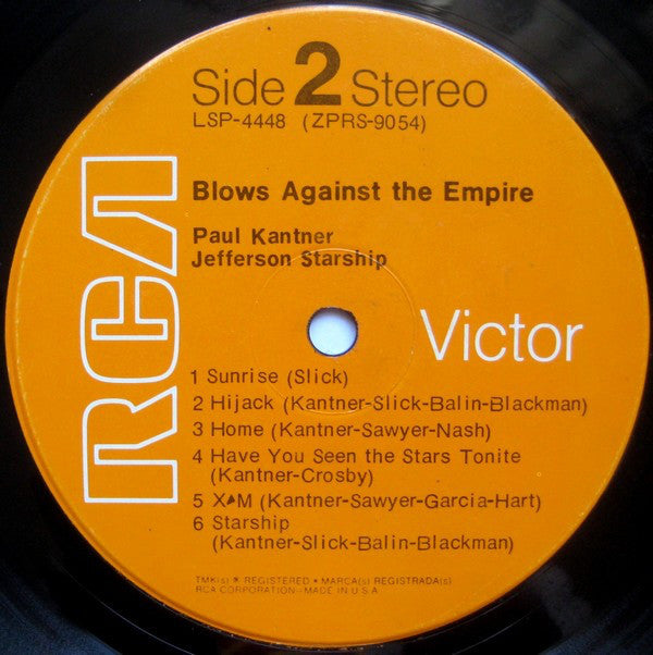 Paul Kantner / Jefferson Starship : Blows Against The Empire (LP, Album, Roc)