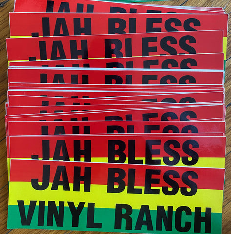 JAH BLESS VINYL RANCH Sticker