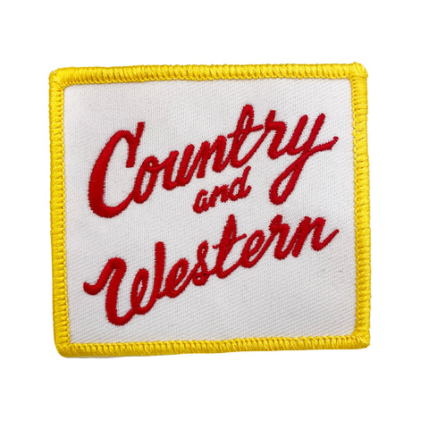 COUNTRY & WESTERN Iron-on Patch