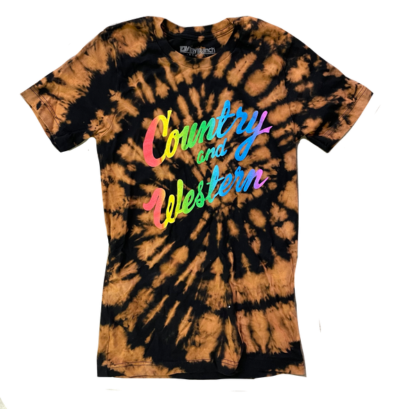 Country & Western Rainbow Bleached Tee