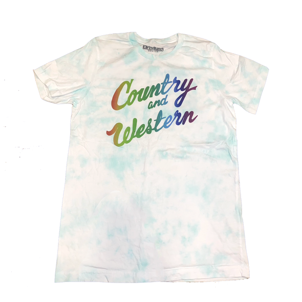 Country & Western Tie Dye Blue Unisex