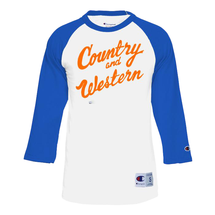 Country & Western Blue and Orange Raglan