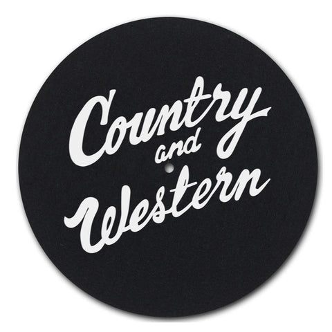 Country & Western Felt DJ Slipmat