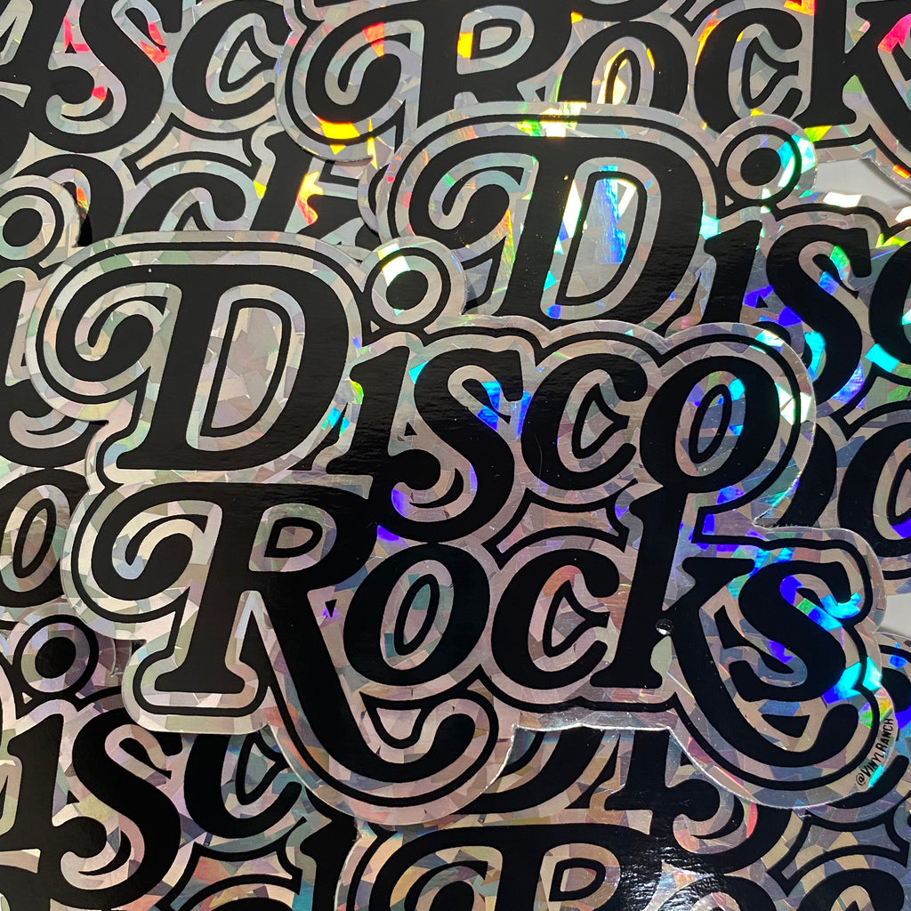 DISCO ROCKS Hologram Sticker