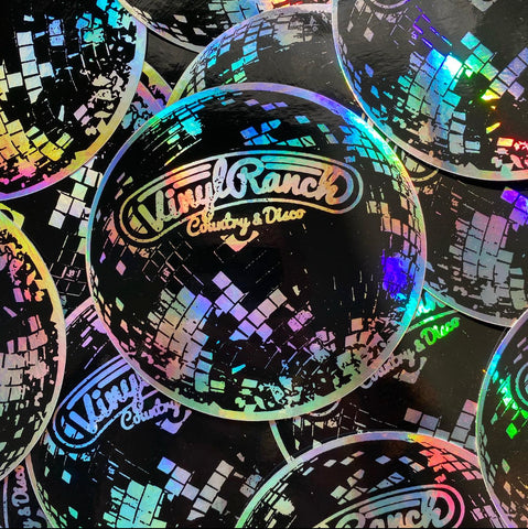 Disco Ball Hologram Sticker