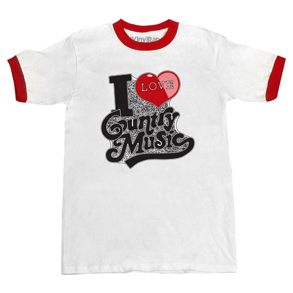I Love Country Music Unisex Ringer Tee