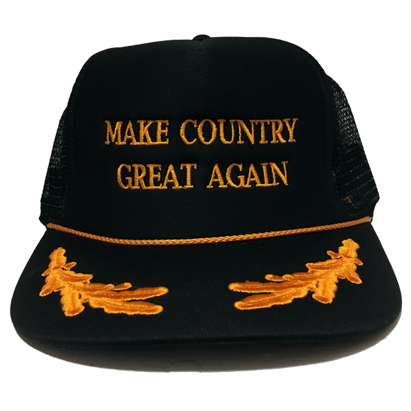 Make Country Great Again Embroidered Trucker Cap