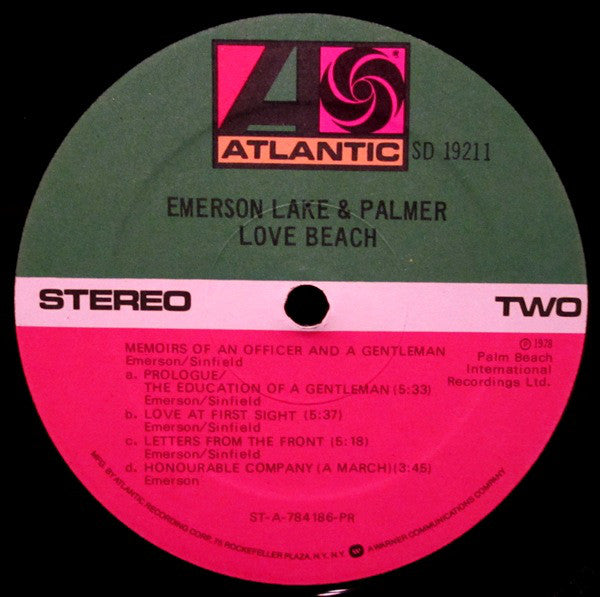 Emerson, Lake & Palmer : Love Beach (LP, Album, PR)