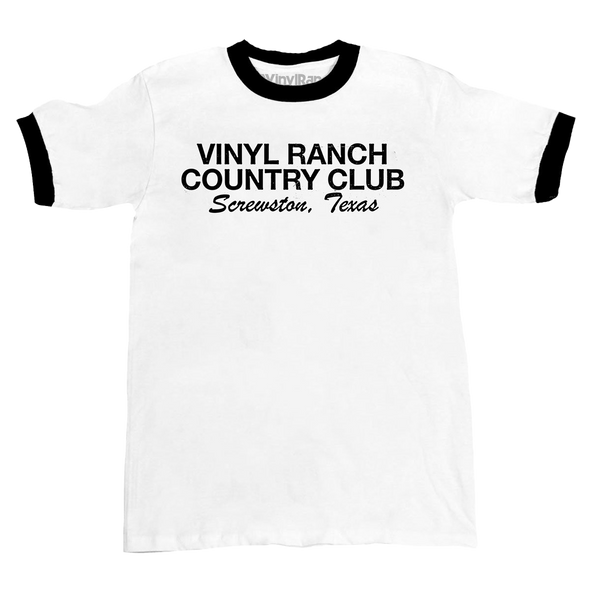 Vinyl Ranch Country Club Ringer Tee