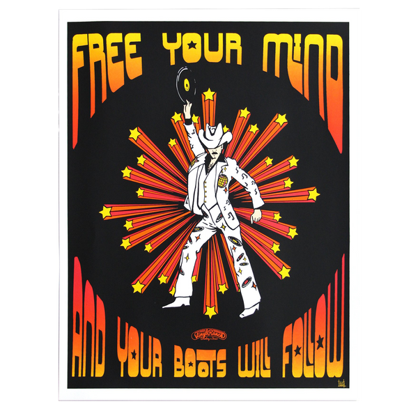 Free Your Mind Screenprint Art Poster