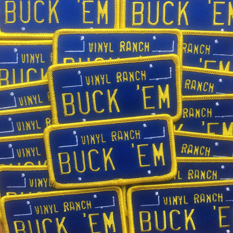 Buck Em x Vinyl Ranch Iron-on Patch