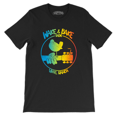 Wake & Bake Peace & Love Unisex DTG Tee
