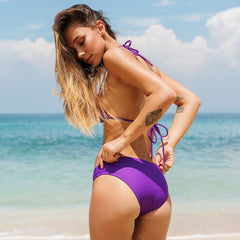 Violet Slide Tri with Violet Brief Bottom