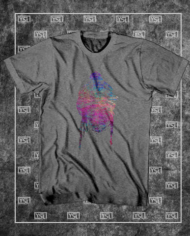 Faded Face (Purple On Grey)