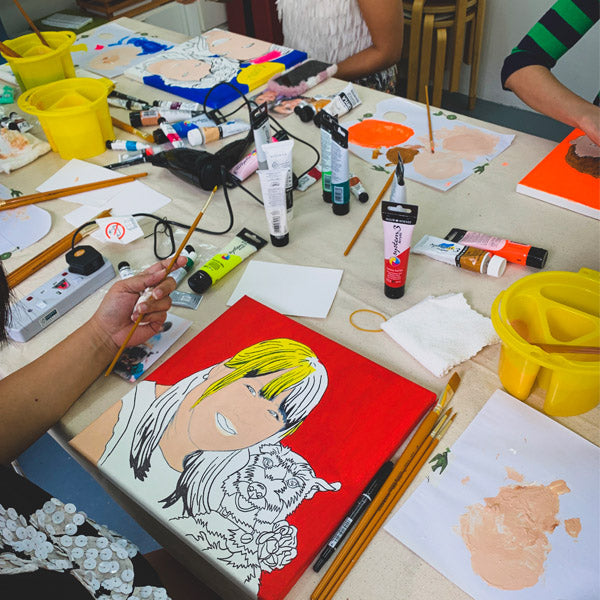 Pop art portrait workshop singapore