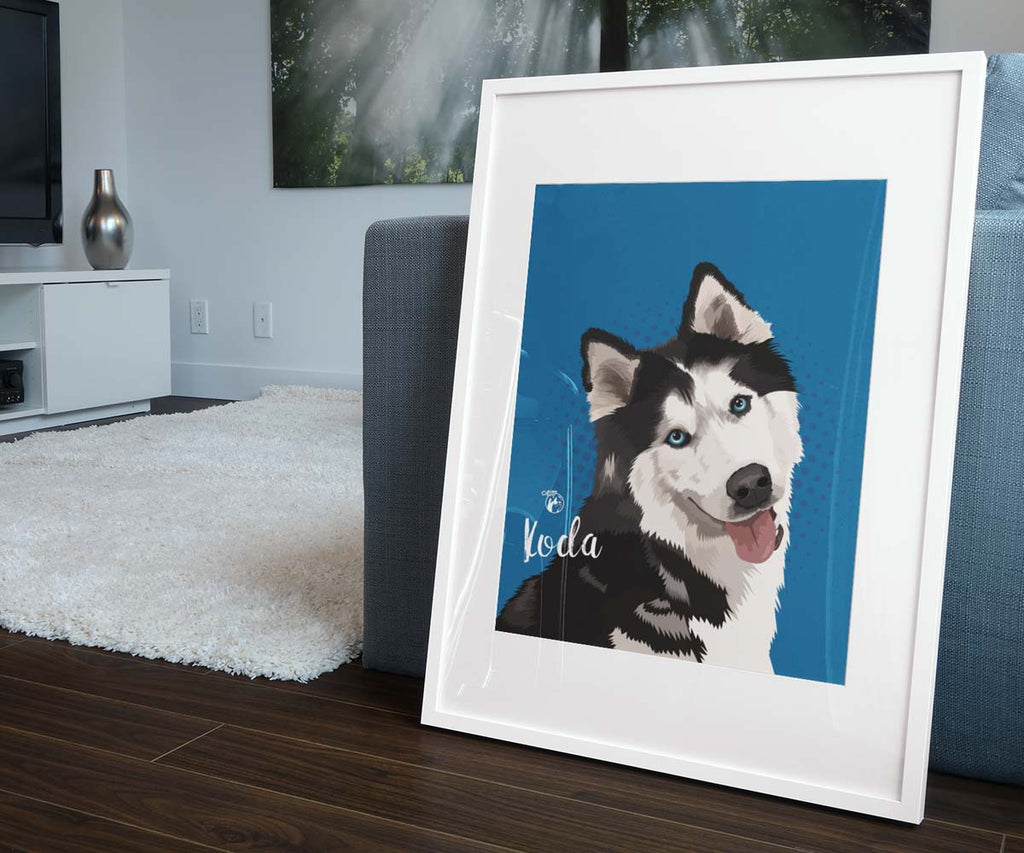 Digital File only, Pop Art Pet Portrait, Available in Various Sizes (Vertical Format)