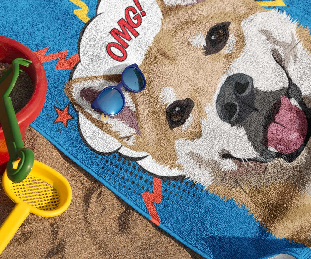 "30 x 60"" Beach Towel, Single Pet"