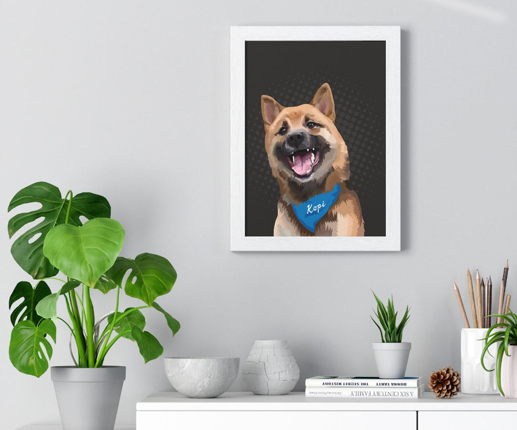 Vertical Wall Art Pet Portrait, Unframed Poster Print, Available in Various Poster Sizes