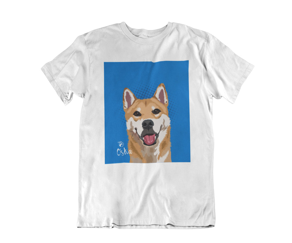 Unisex Pet Portrait T-shirt, Single Pet