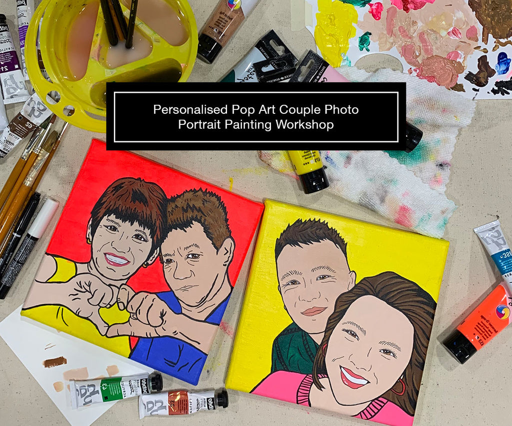 Pop Art Portrait Painting Workshop (Private Class) 3.5hrs