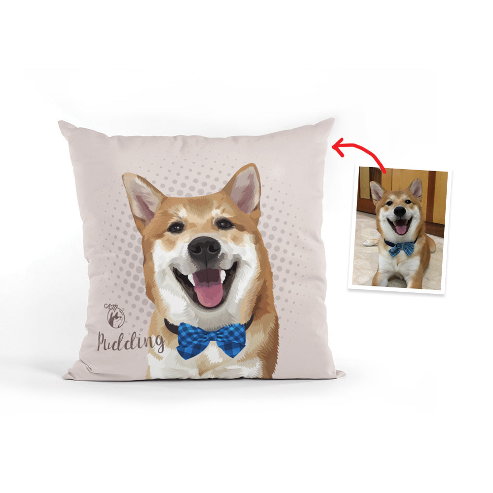 40cm x 40cm Throw Pillow, Multiple Pets/People