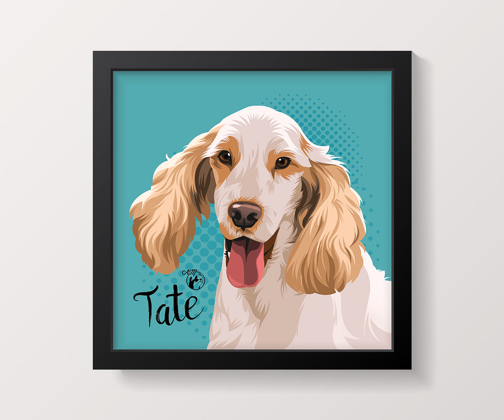 "12 x 12"", Framed Art, Single Pet"