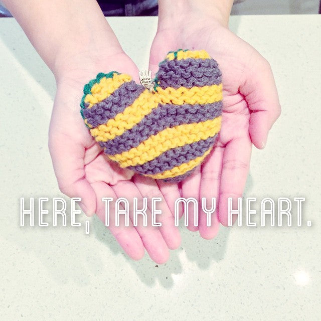 All you knit is... Scented stuffed Heart