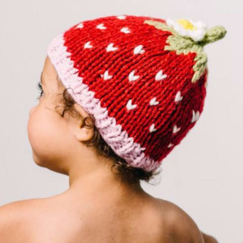 Bamboo Strawberry Knit Hat | Avenue Petit Lou