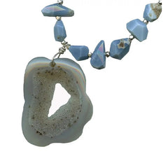 ATOLL- Blue Opal & Grey Agate Necklace