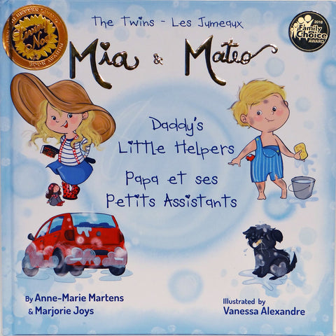 Book - FRENCH/ENGLISH - The Twins Mia & Mateo: Daddy's Little Helpers
