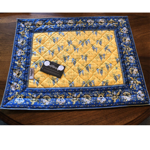 Provence Valdrome Blue/Yellow Placemats - Set of 2