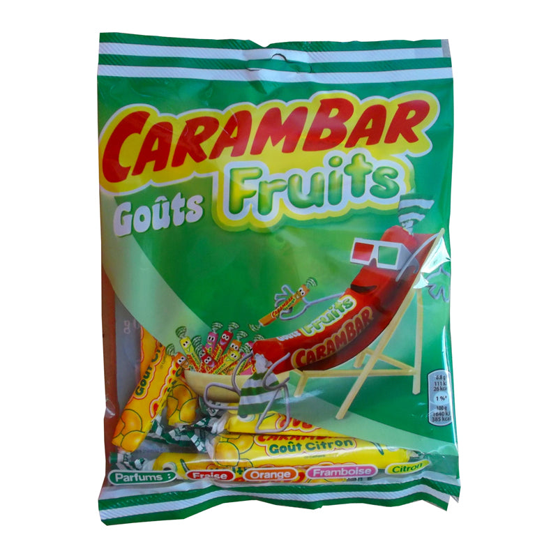 Mixed Fruit Carambar Candy - La Pie Qui Chante - 24 count