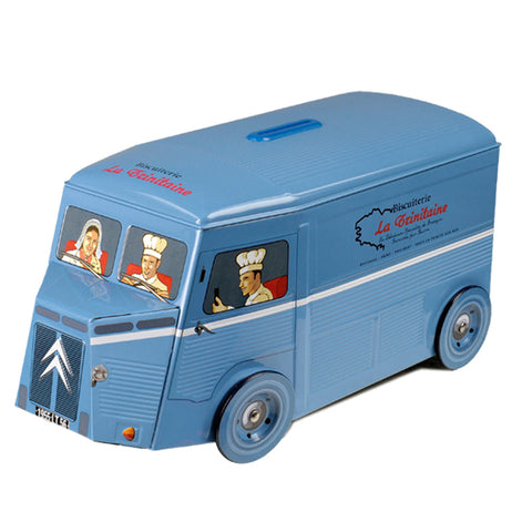 Butter Cookies in Collectible Vintage Blue Citroen Van - La Trinitaine
