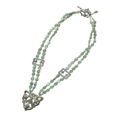 ANIS - Silver Pendant Fishel Nessler & Green Kyanite Necklace