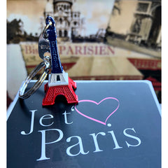 Eiffel Tower Key Ring - Paris Souvenir - French Flag Colors