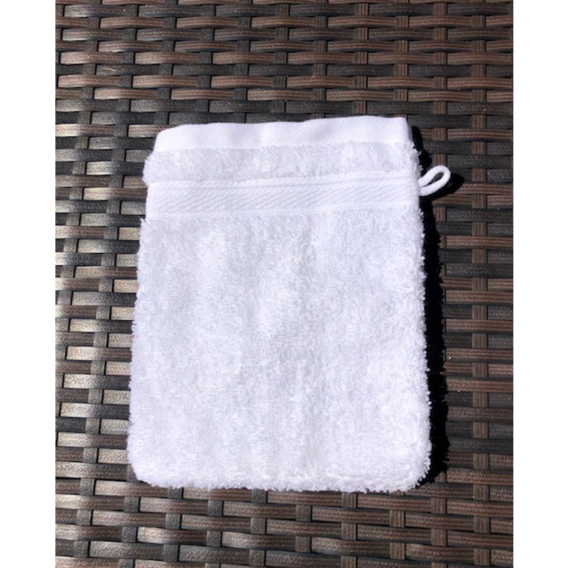French Pocket Washcloth - White