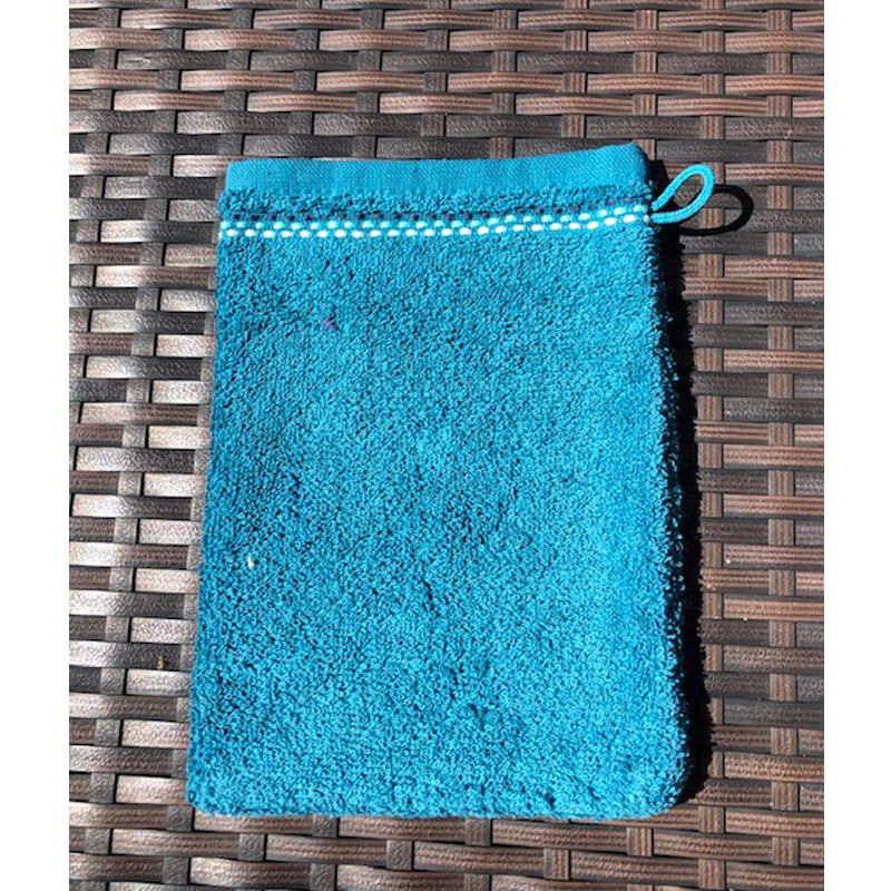 French Pocket Washcloth - Teal