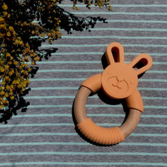 Baby - Silicone Wood Ring Teether | Avenue Petit Lou