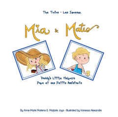 Book - FRENCH/ENGLISH - The Twins Mia & Mateo: Daddy's Little Helpers | Avenue Petit Lou